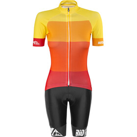 Red Cycling Products Colorblock Race Set Dam red-yellow
